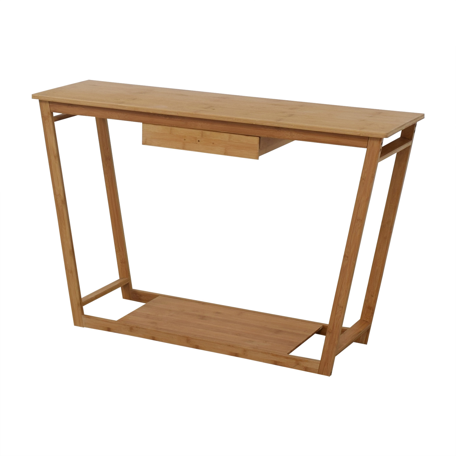 Bamboo Wood Single Drawer Desk or Table discount
