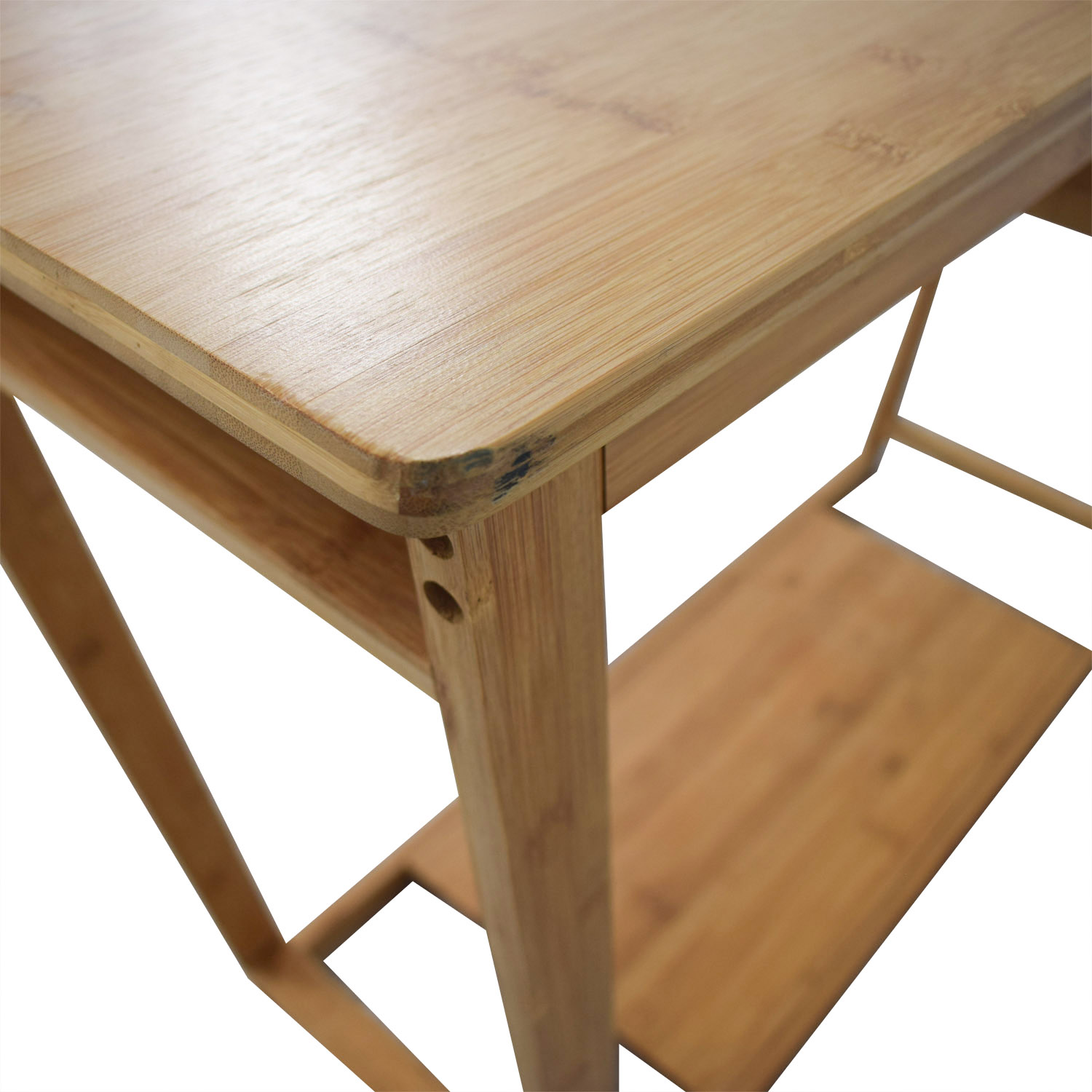Bamboo Wood Single Drawer Desk or Table / Tables