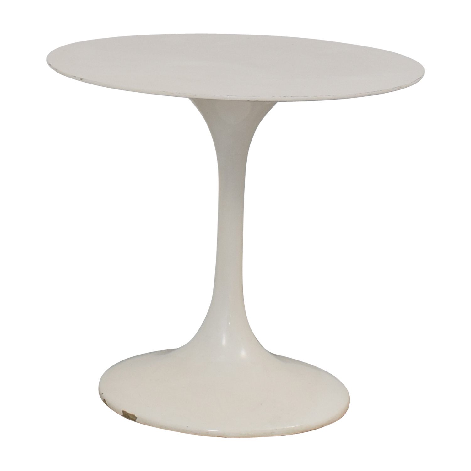 White Round Tulip Table discount
