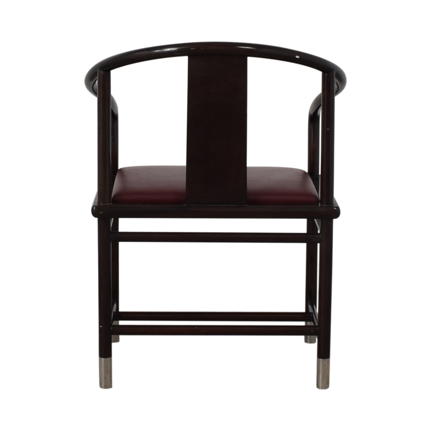Brueton Brueton Wood and Burgundy Upholstered Accent Chair discount