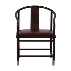 Brueton Brueton Wood and Burgundy Upholstered Accent Chair Chairs