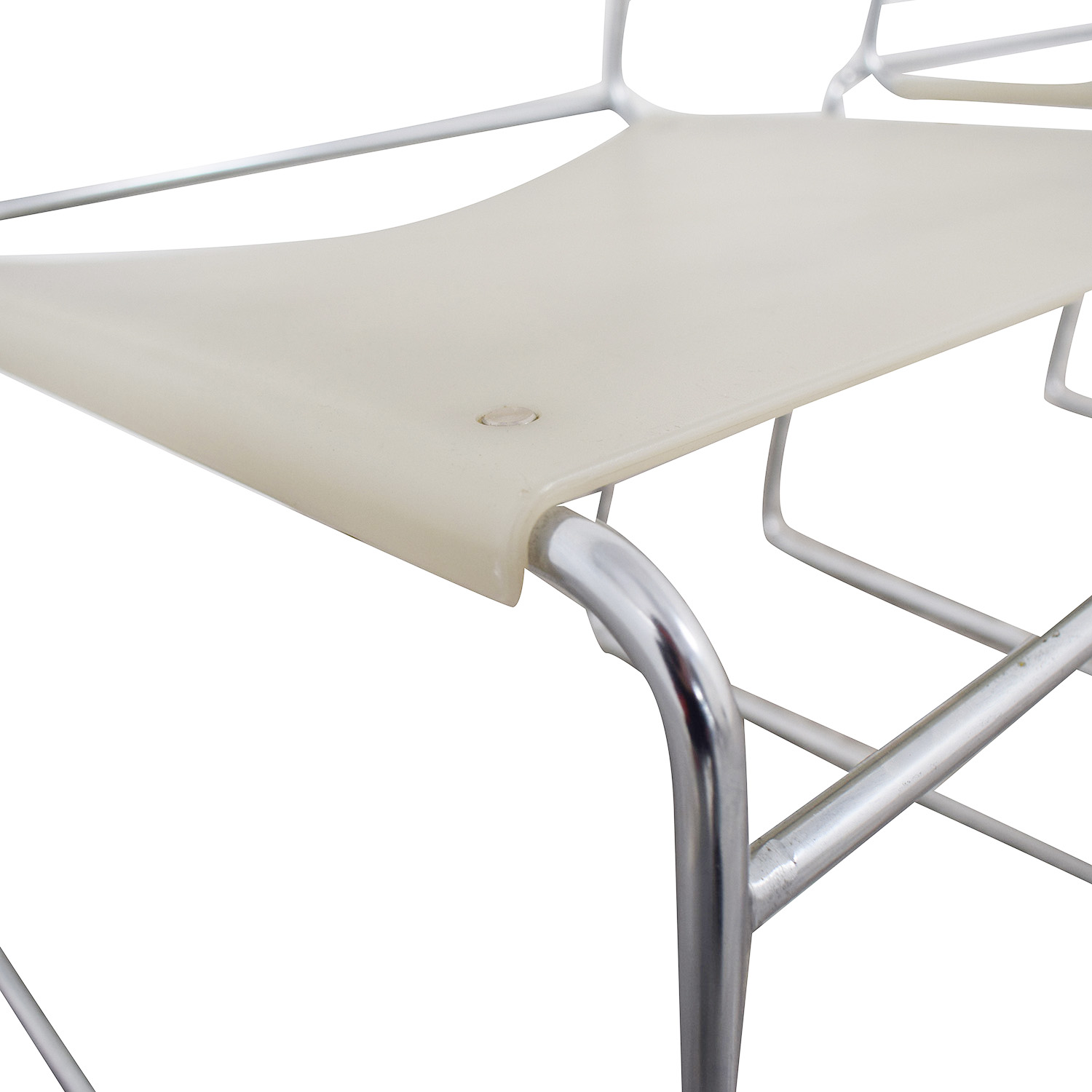 Harter White Sled Base Chairs / Chairs