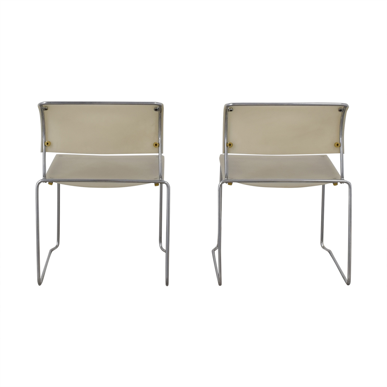 Harter White Sled Base Chairs coupon
