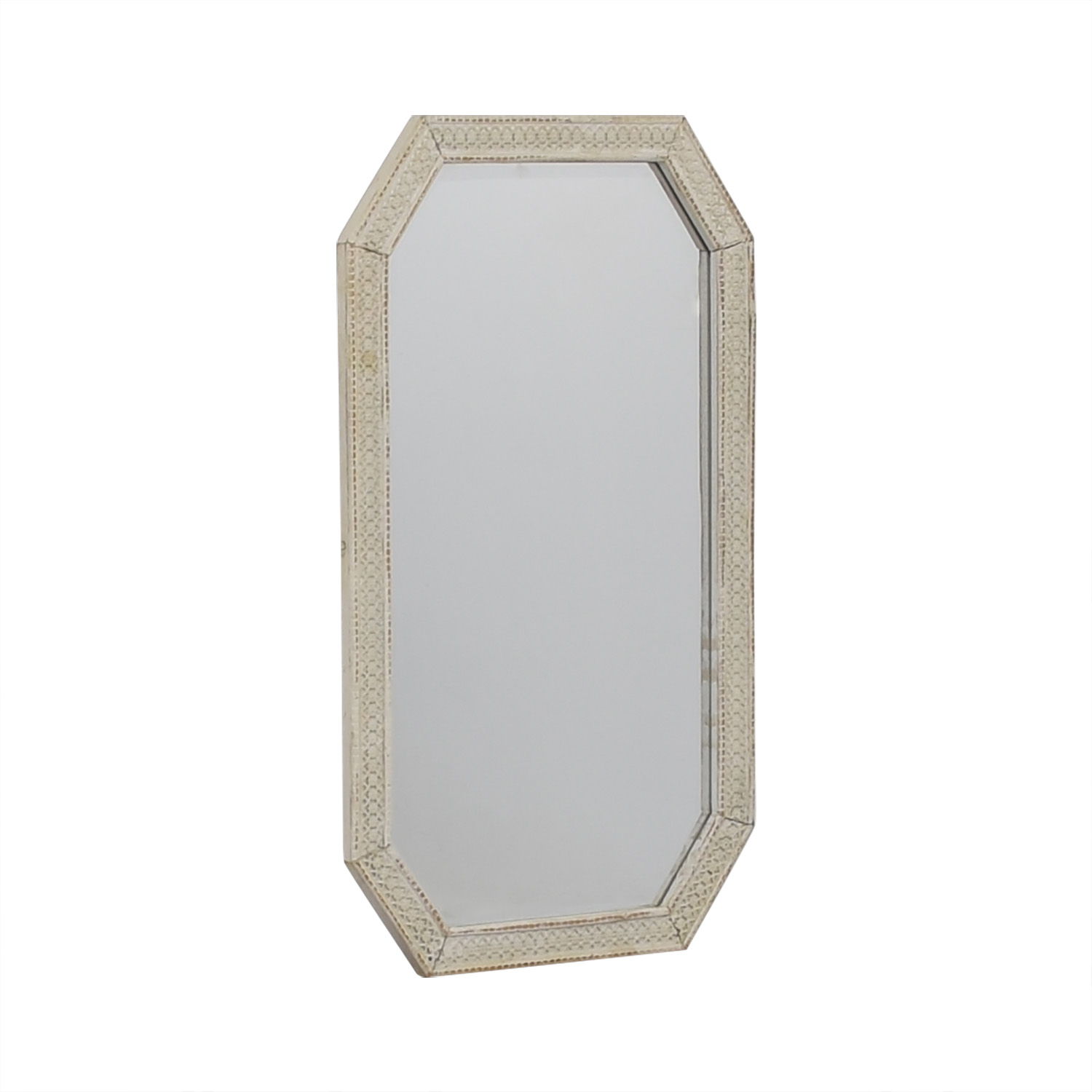 buy  Distressed White Indian Lattice Wall Mirror online