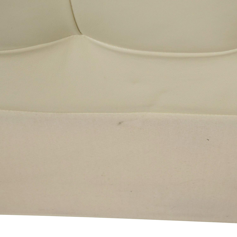 West Elm West Elm Low Leather Grid-Tufted Headboard discount