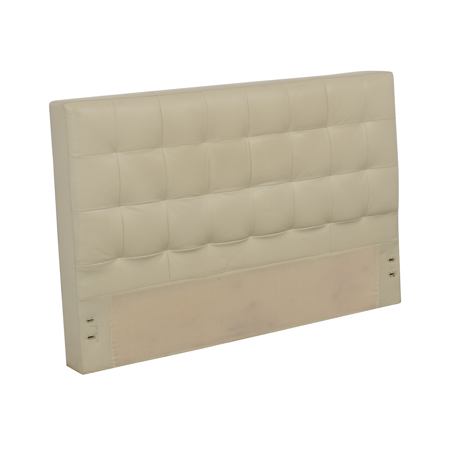 West Elm Low Leather Grid-Tufted Headboard / Headboards