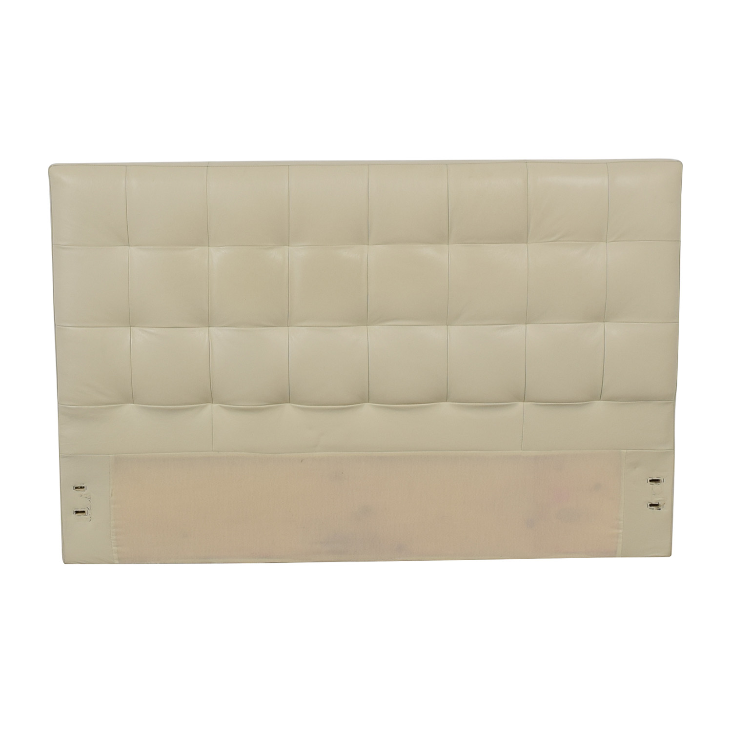 West Elm West Elm Low Leather Grid-Tufted Headboard nj