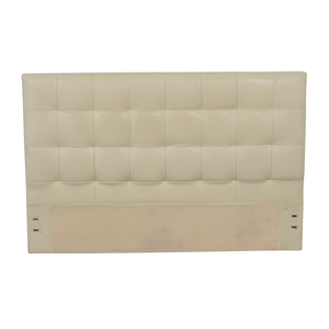 West Elm West Elm Low Leather Grid-Tufted Headboard for sale