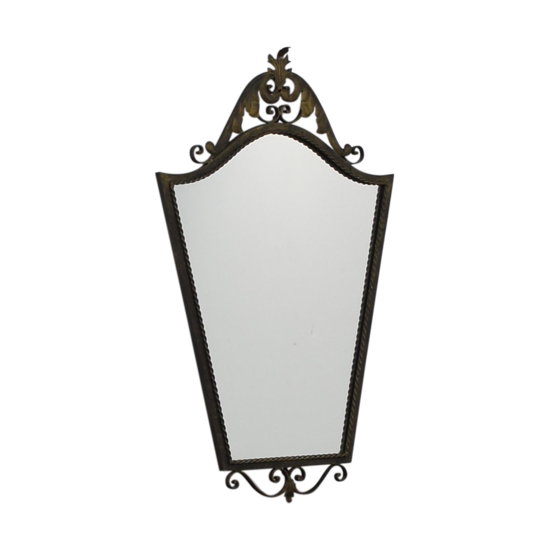 Distressed Metal Wall Mirror on sale