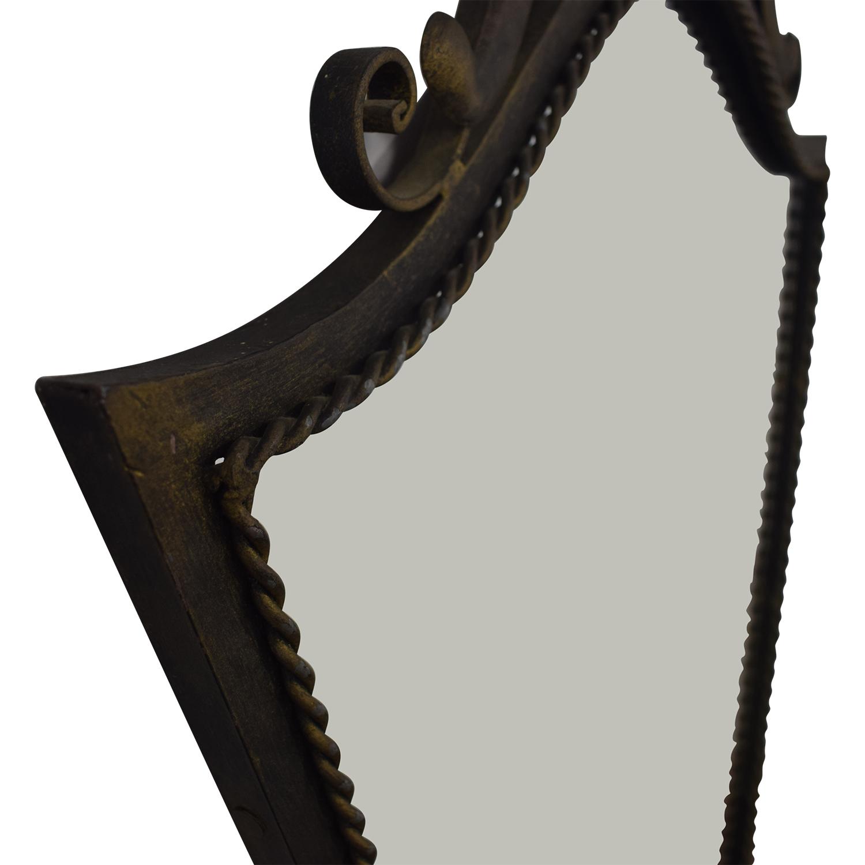 Distressed Metal Wall Mirror dimensions