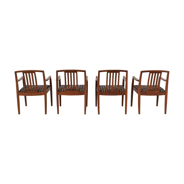 Gunlocke Company Gunlocke Company Upholstered Dining Chairs dimensions