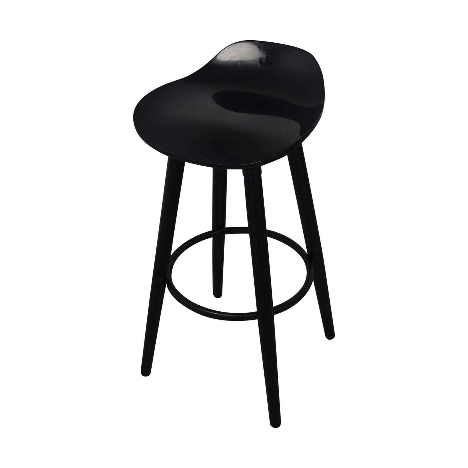 buy Sleek Black Modern Bar Stools  Stools