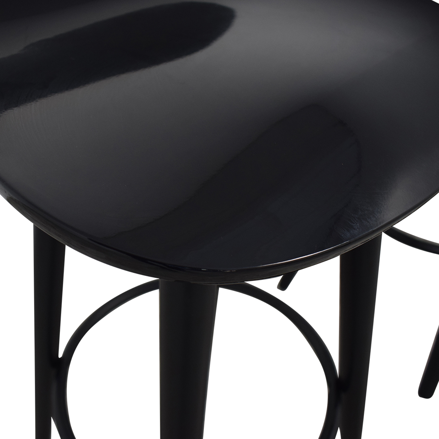 Sleek Black Modern Bar Stools discount
