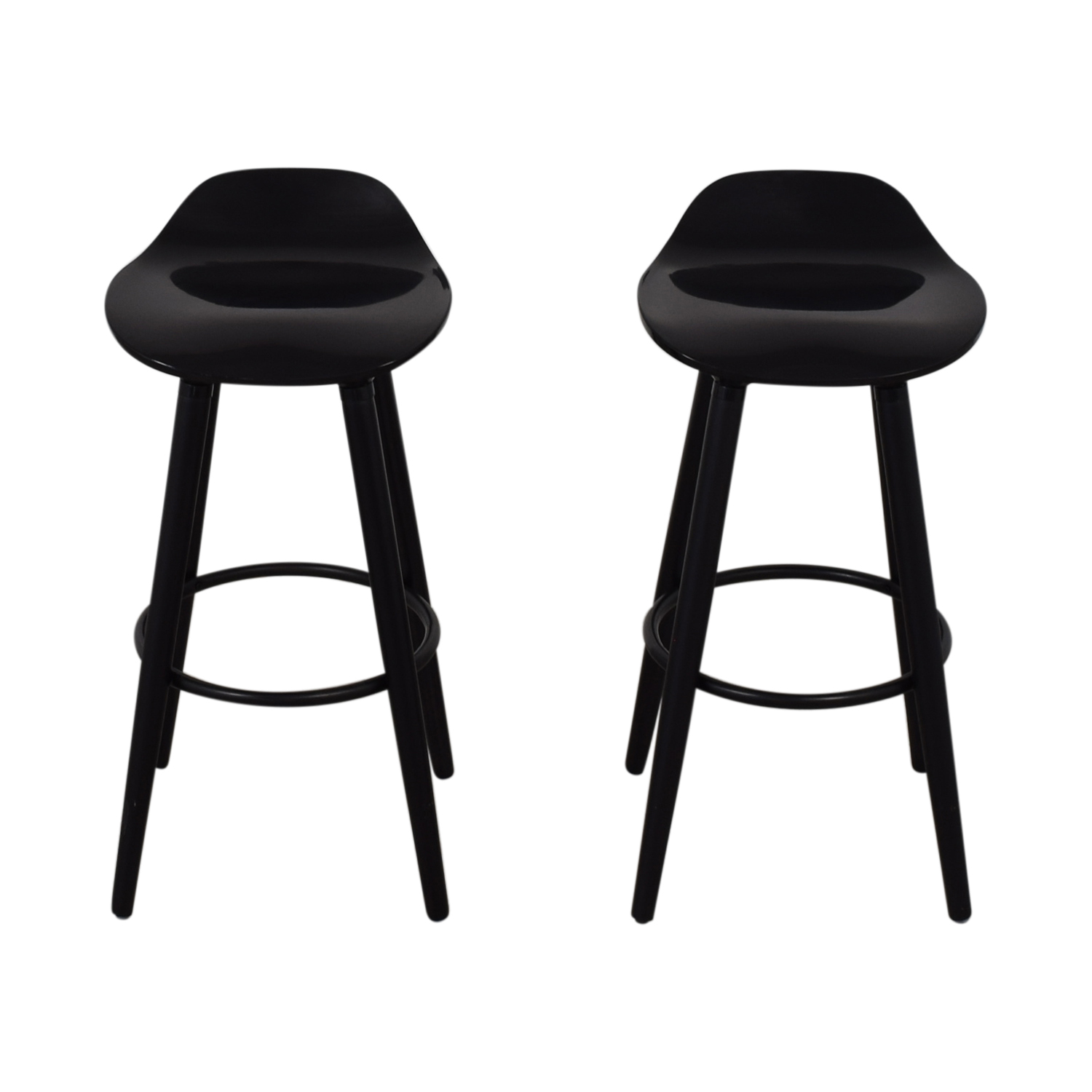 shop Sleek Black Modern Bar Stools  Stools