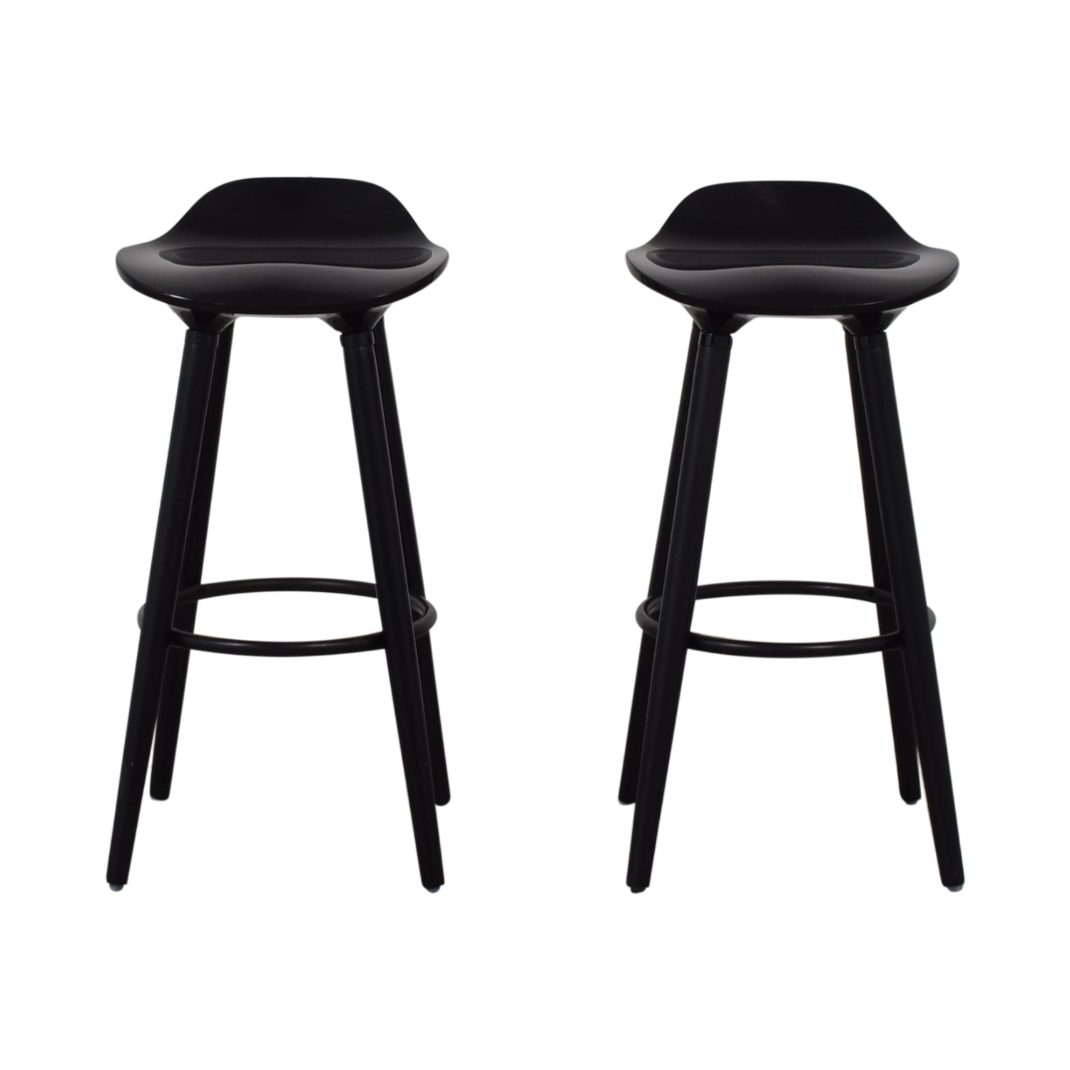 Sleek Black Modern Bar Stools Stools