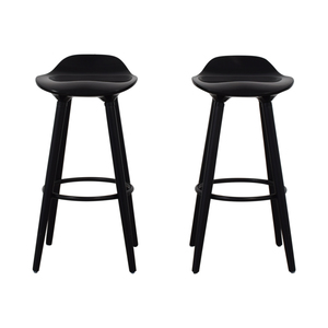 Sleek Black Modern Bar Stools second hand