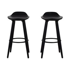 Sleek Black Modern Bar Stools sale