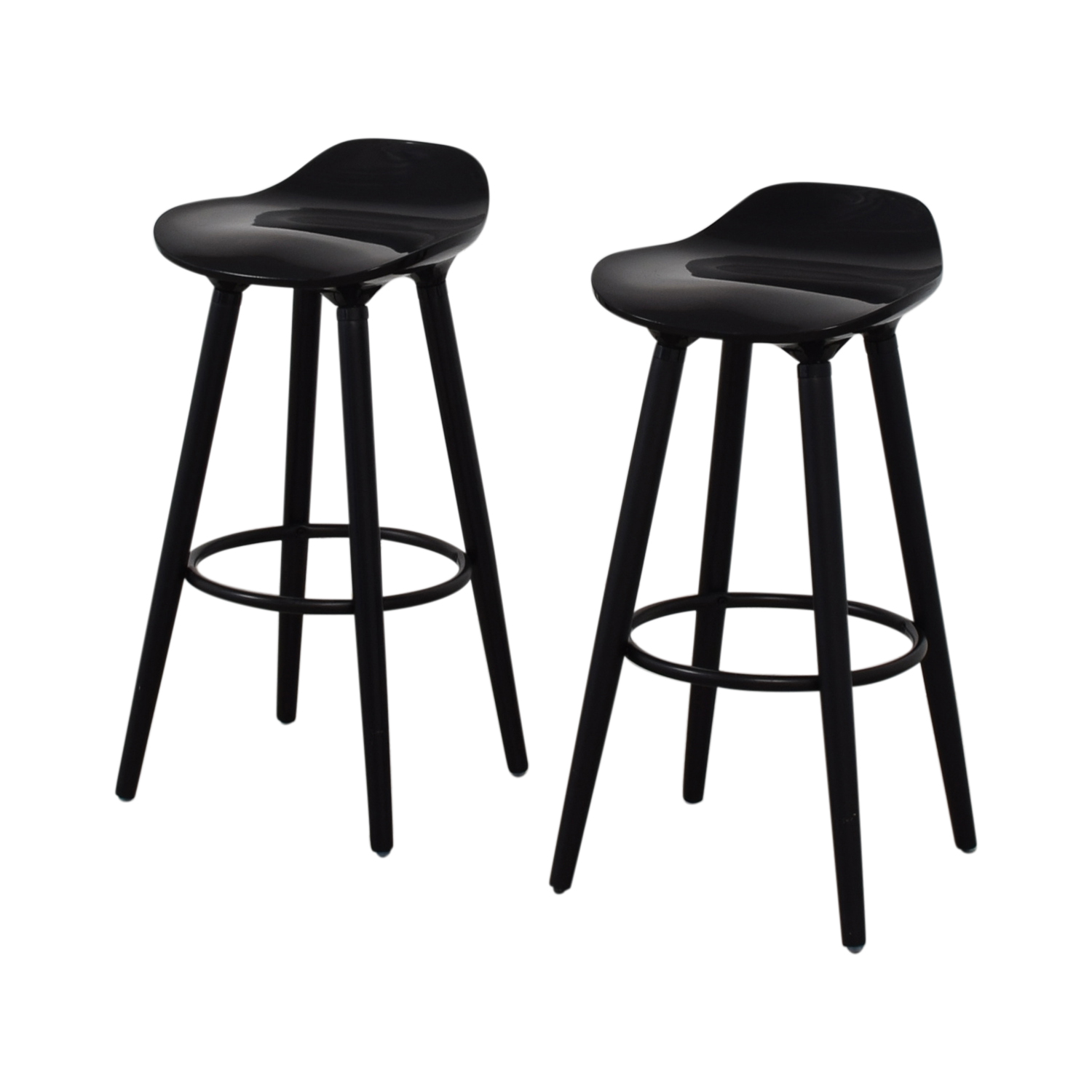buy Sleek Black Modern Bar Stools  Chairs