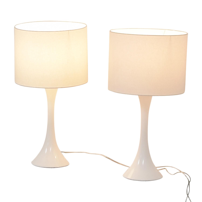 CB2 CB2 White Table Lamps dimensions