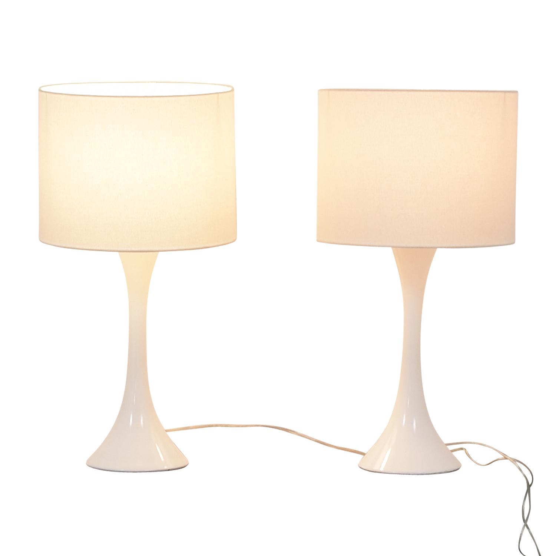 CB2 White Table Lamps / Decor