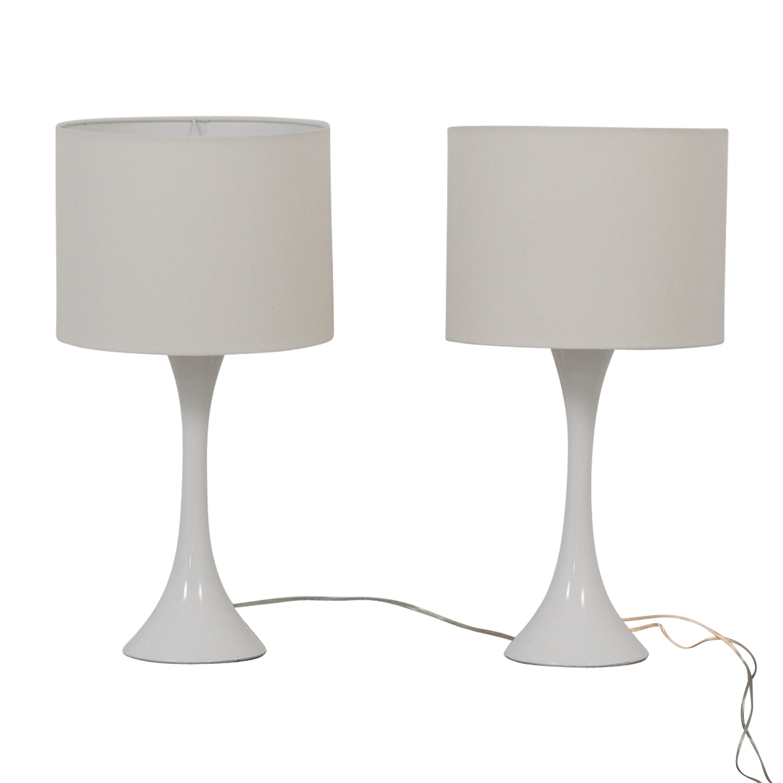 CB2 CB2 White Table Lamps Lamps