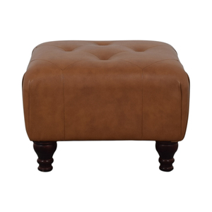 Brown Tufted Ottoman used