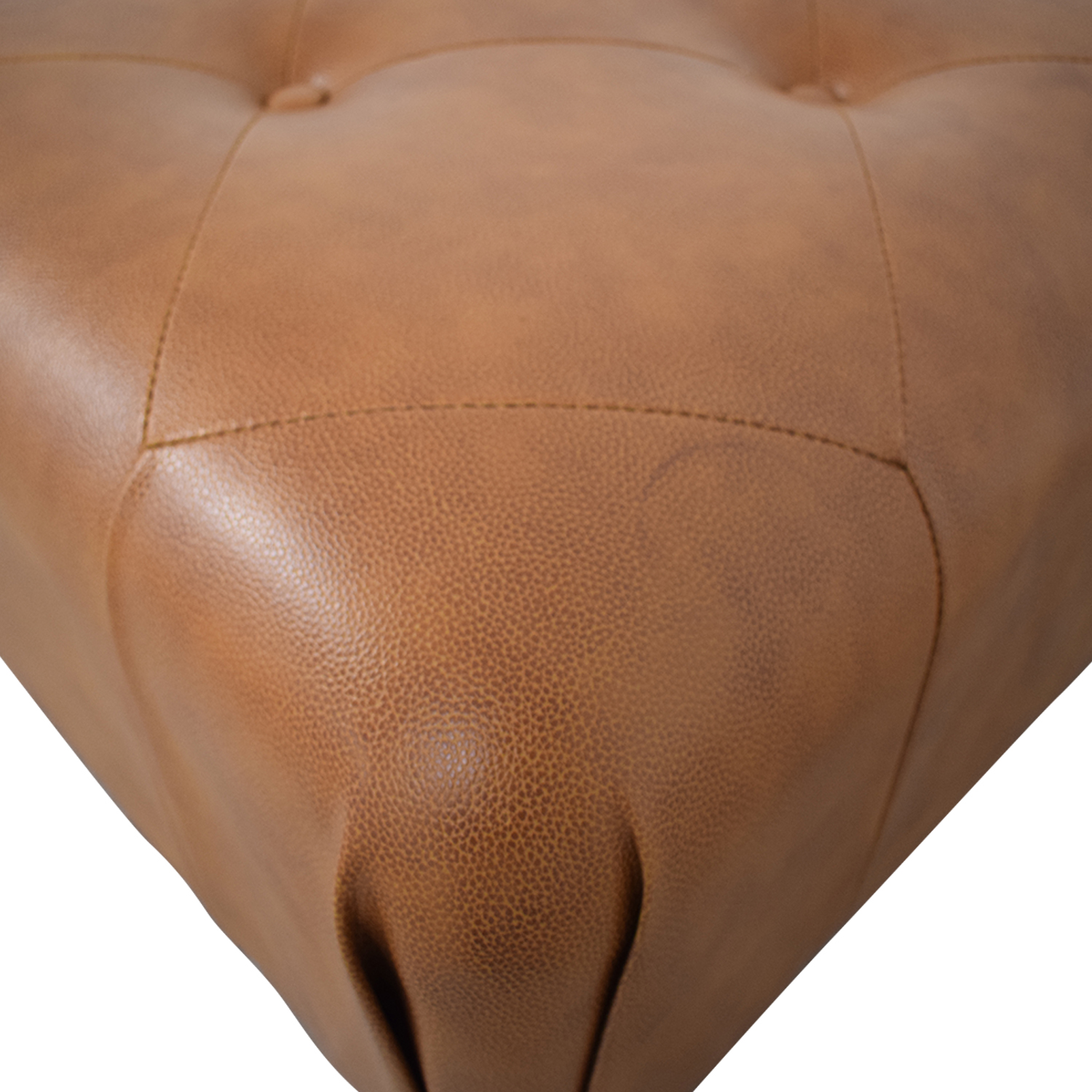 Brown Tufted Ottoman sale