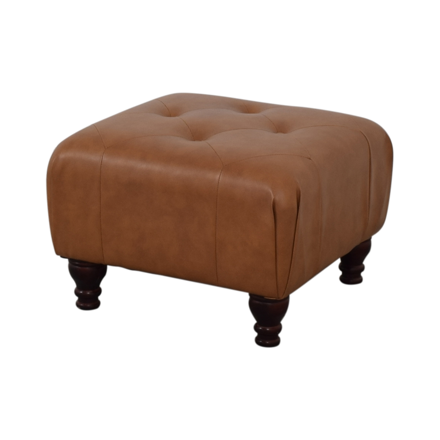 Brown Tufted Ottoman price