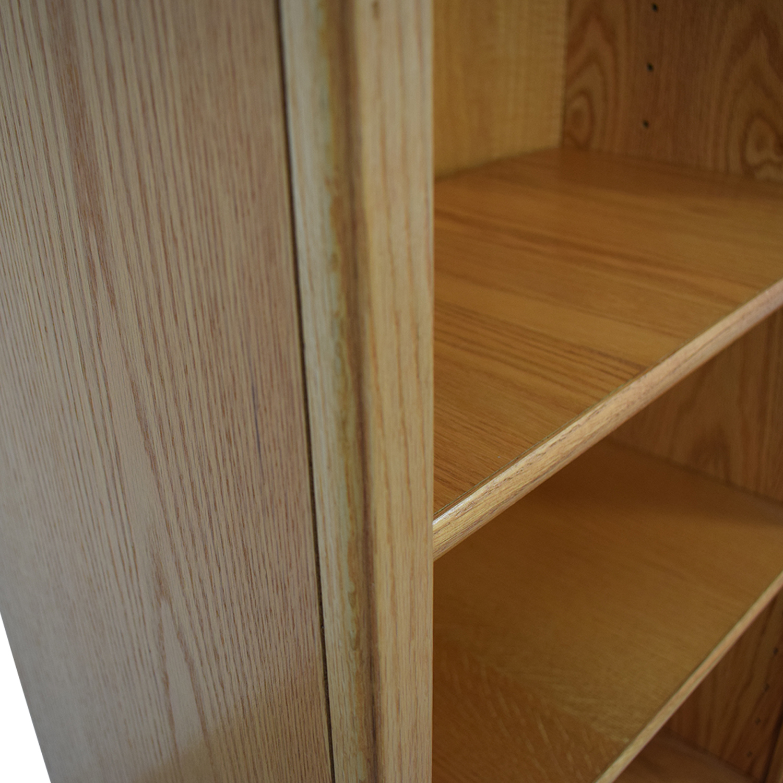 Wood Double Bookcase / Storage