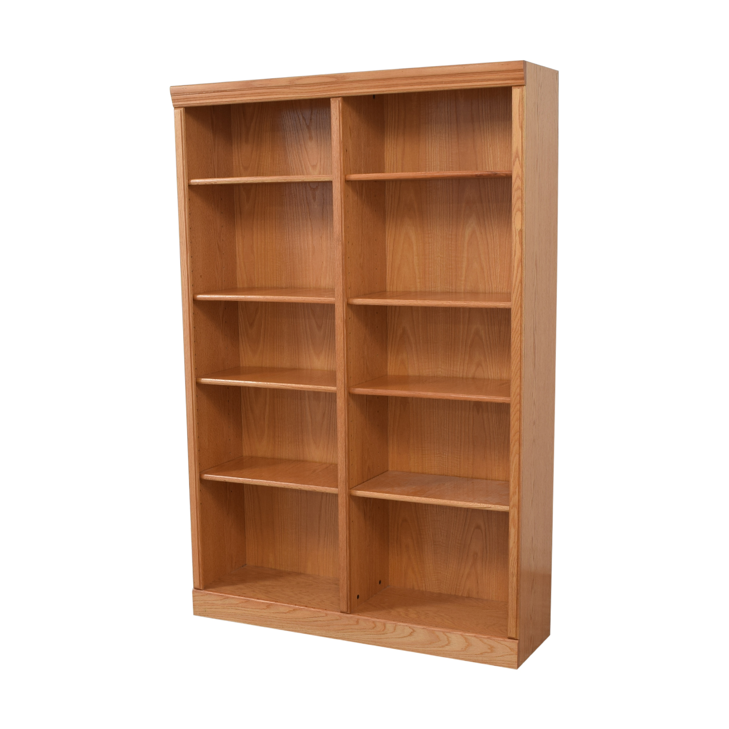 Wood Double Bookcase price
