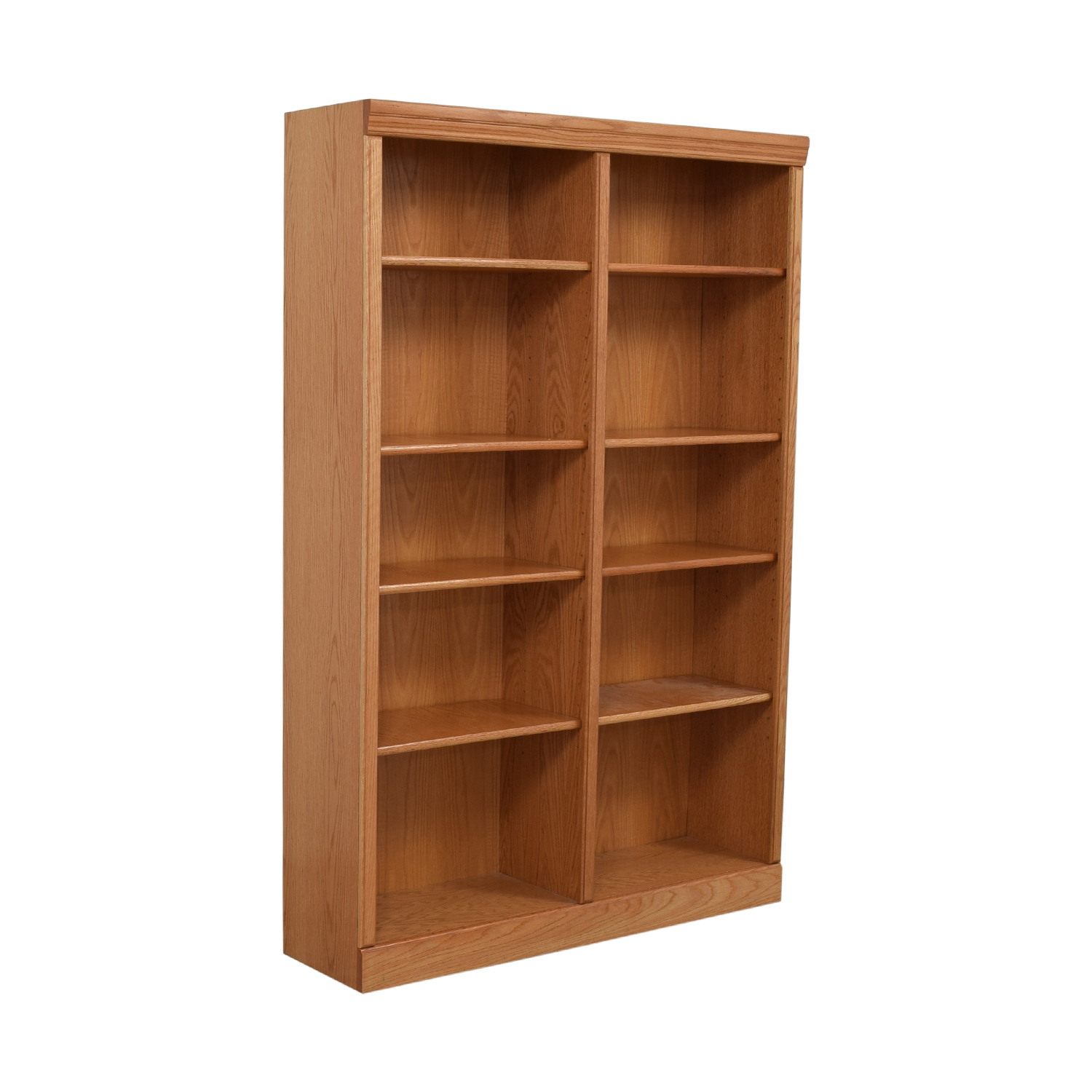 Wood Double Bookcase discount