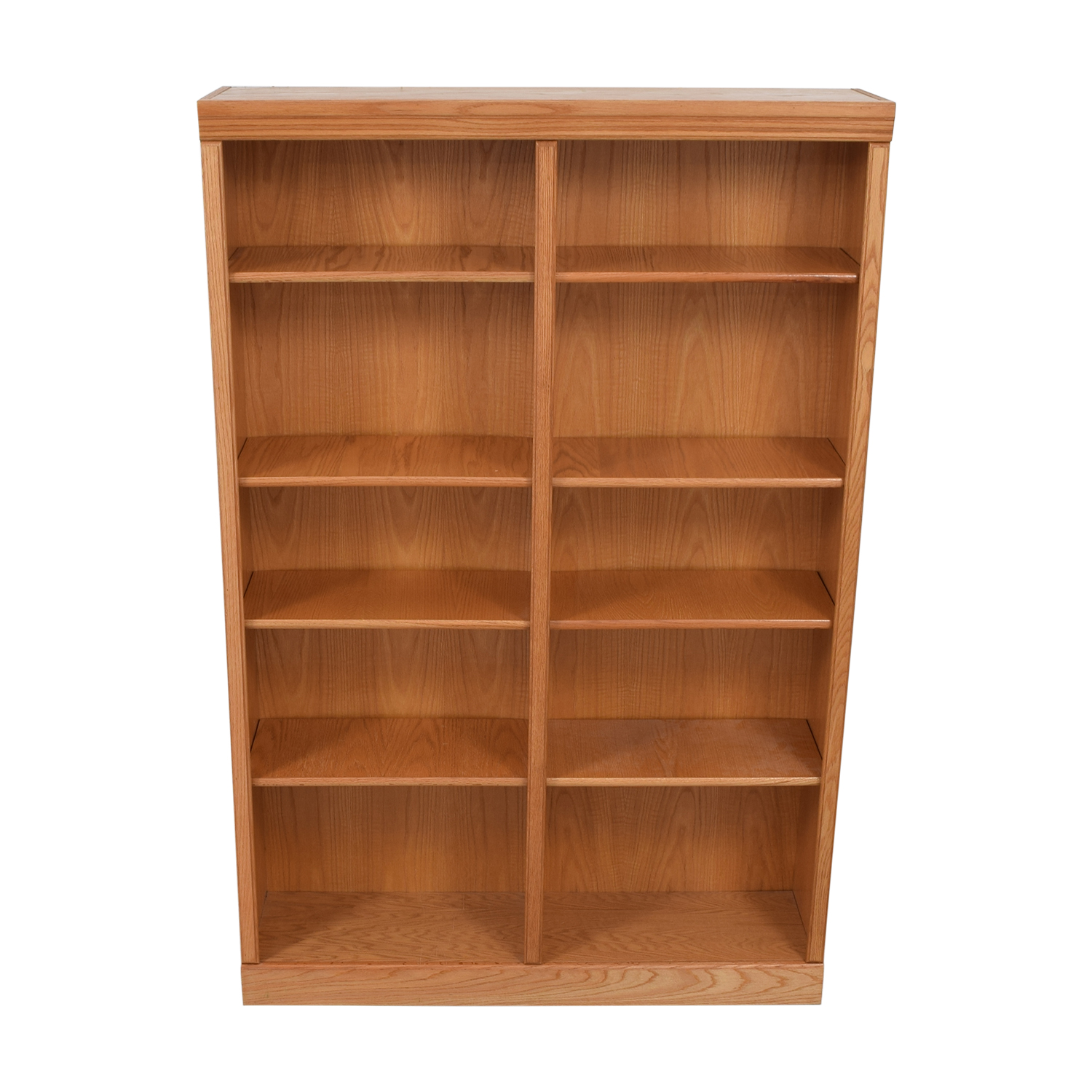 Wood Double Bookcase second hand