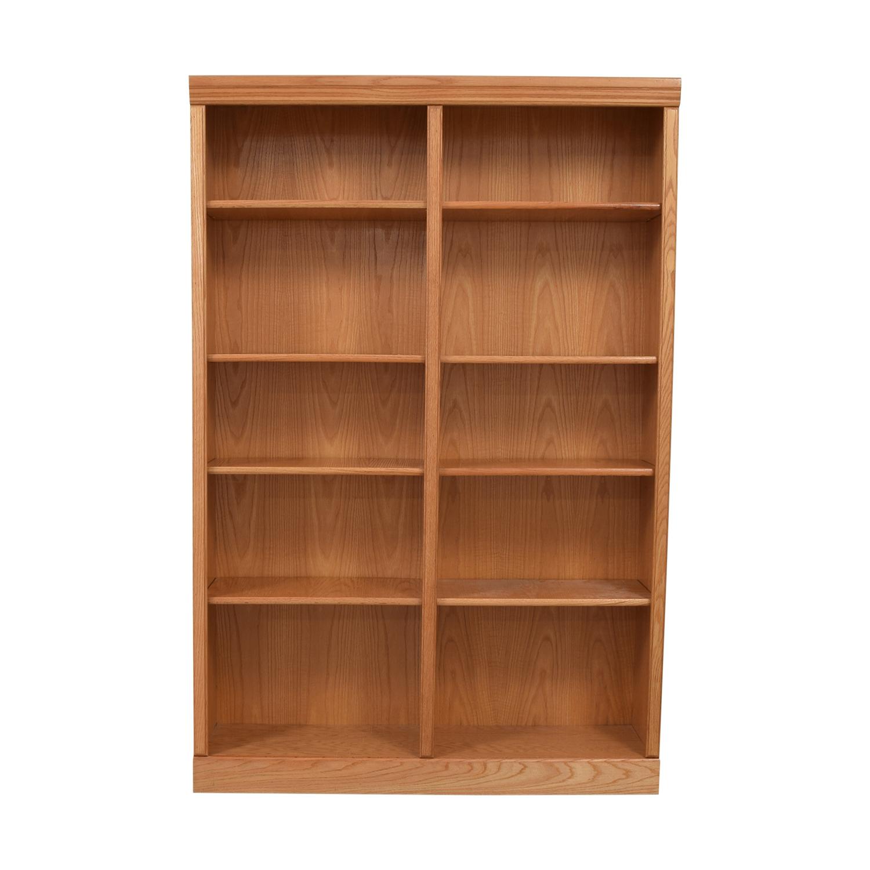 shop Wood Double Bookcase  Storage
