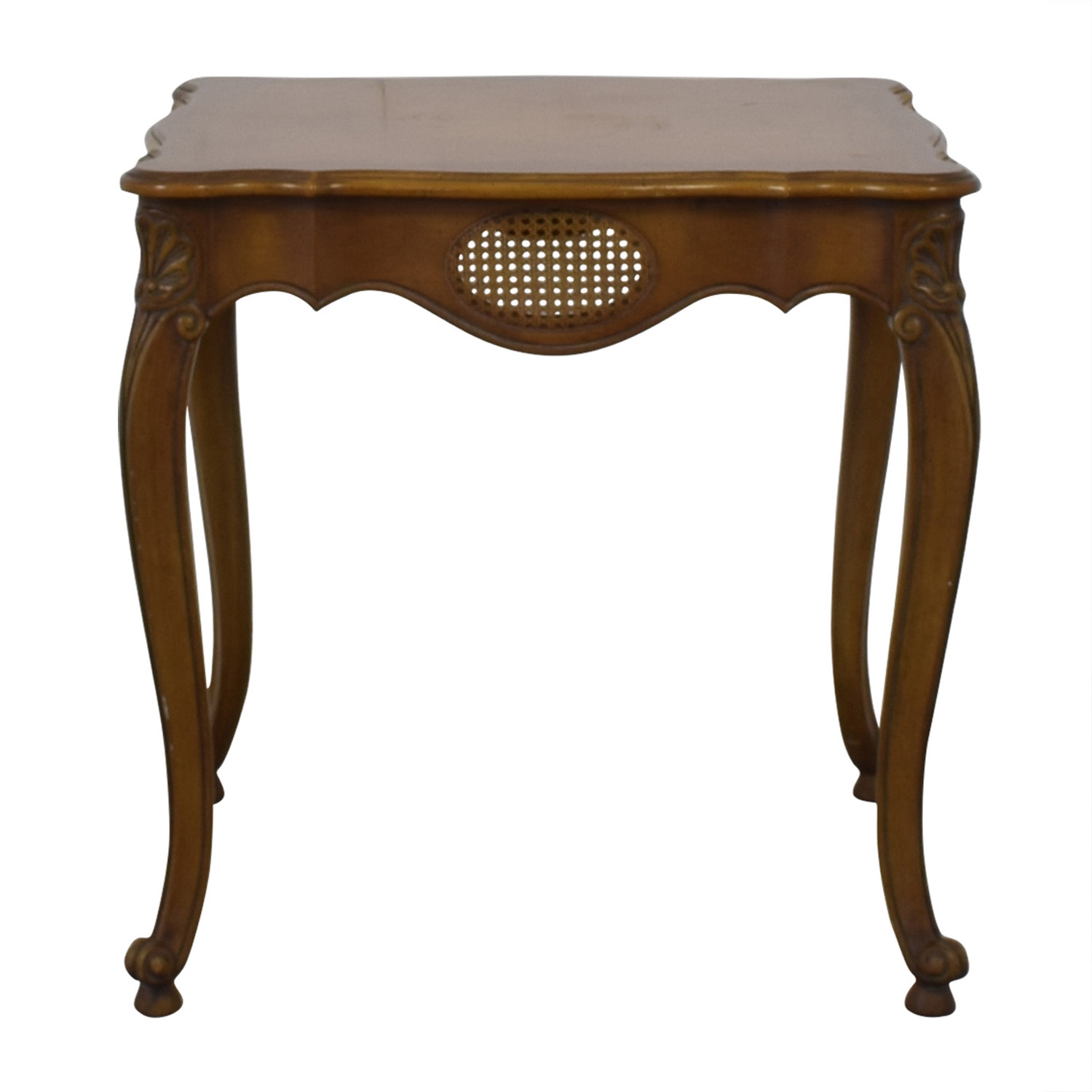 French Provincial Cane Weave Accent Table coupon