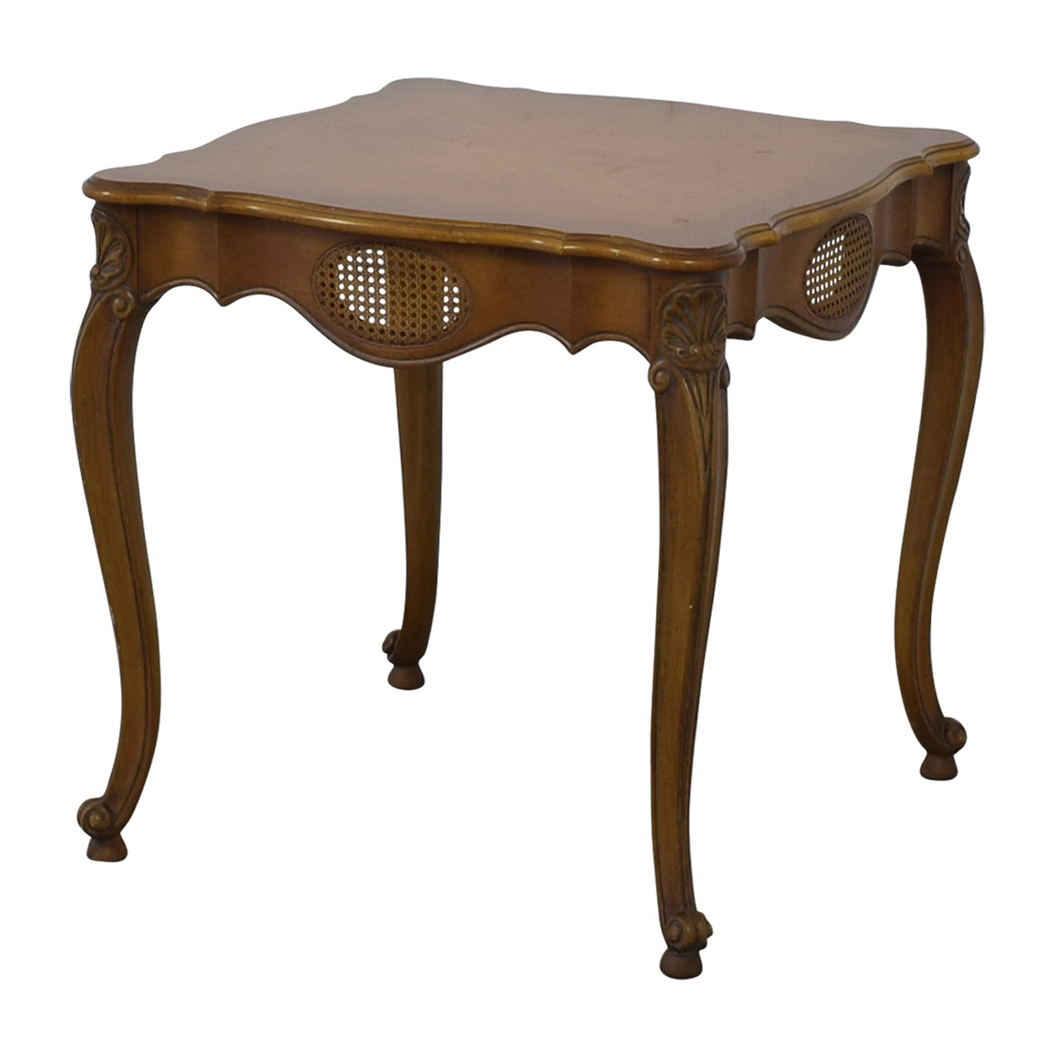 French Provincial Cane Weave Accent Table Tables