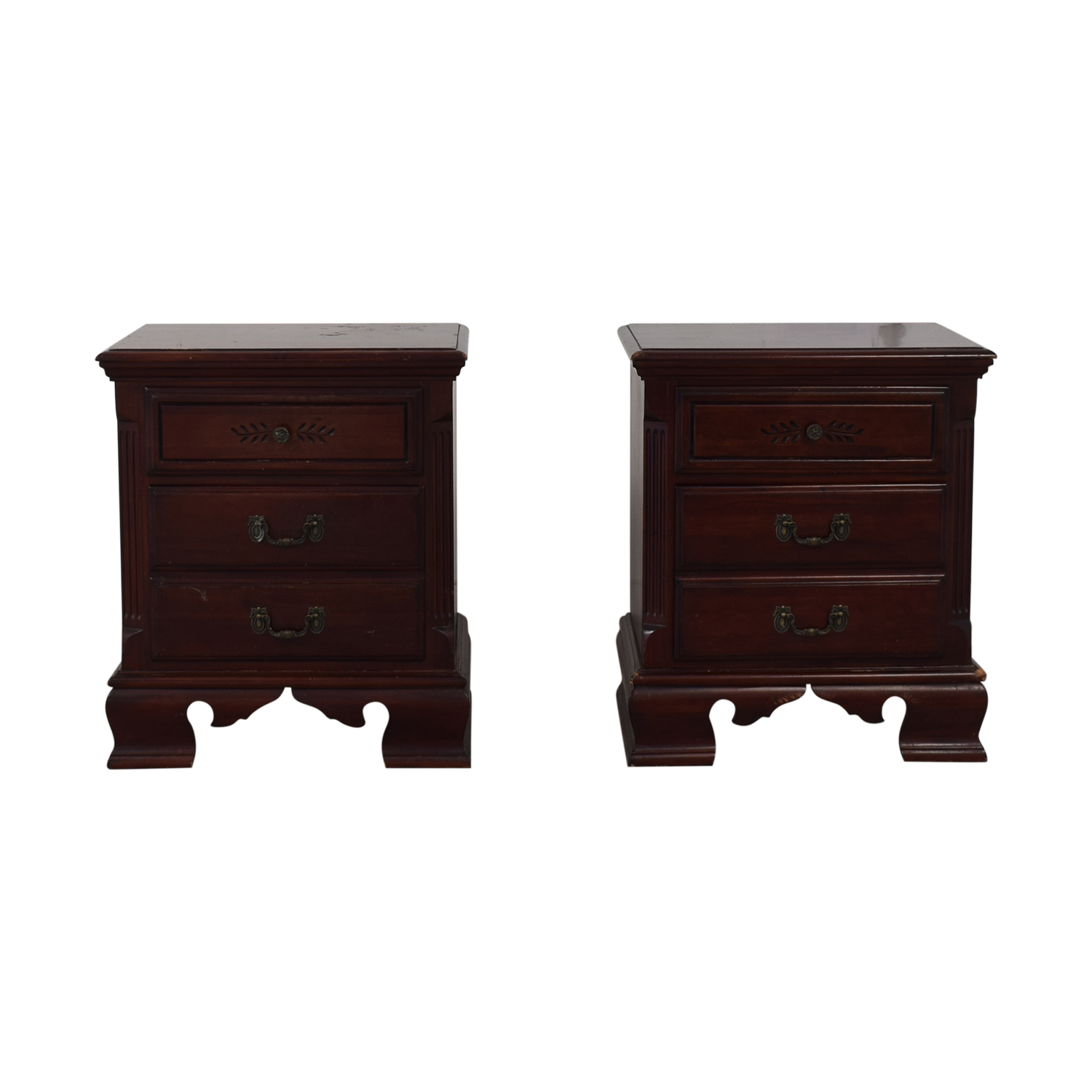 Heirloom Traditions Two-Drawer End Tables nj