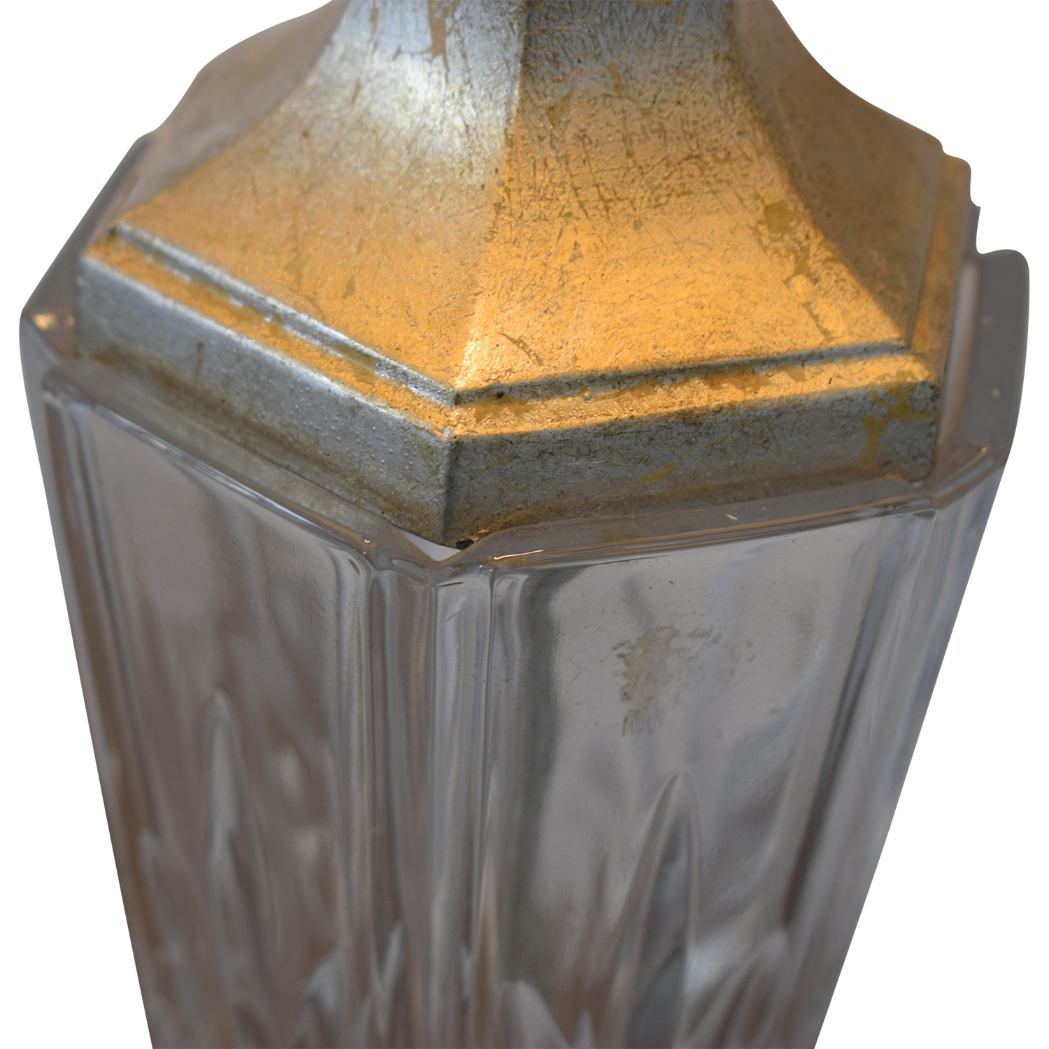 Distressed and Glass Accent Table Lamps / Decor