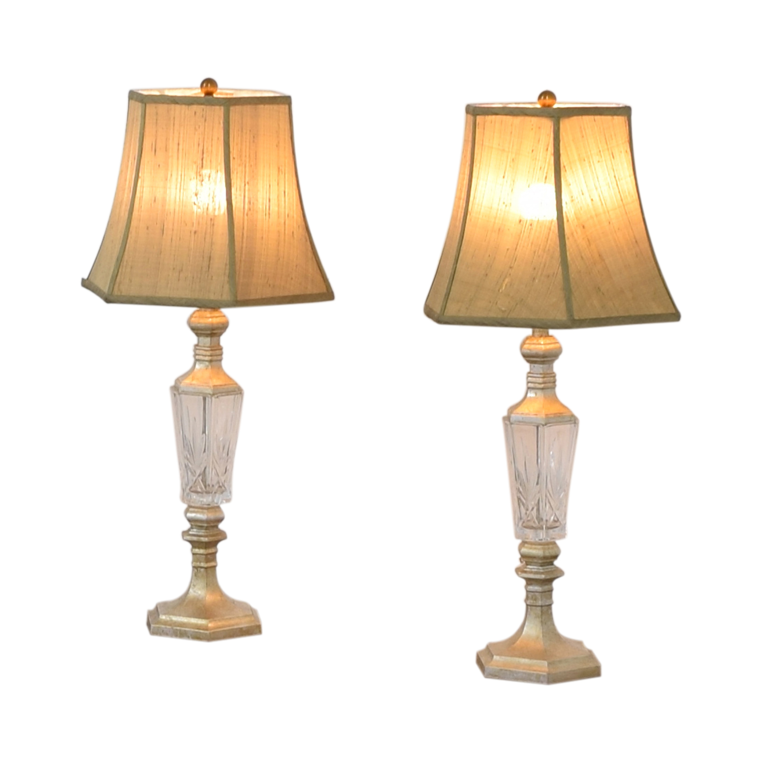 Distressed and Glass Accent Table Lamps sale