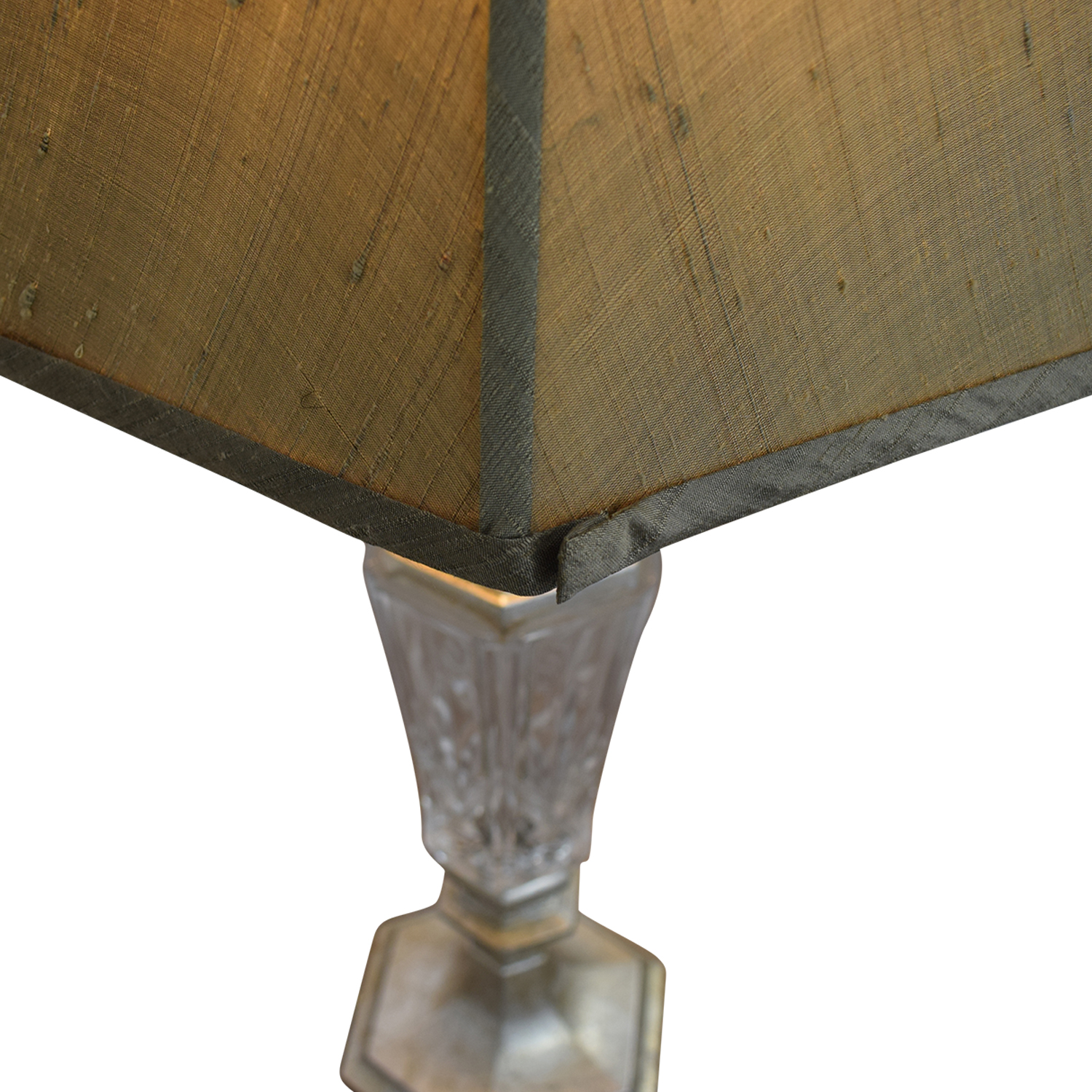 Distressed and Glass Accent Table Lamps used