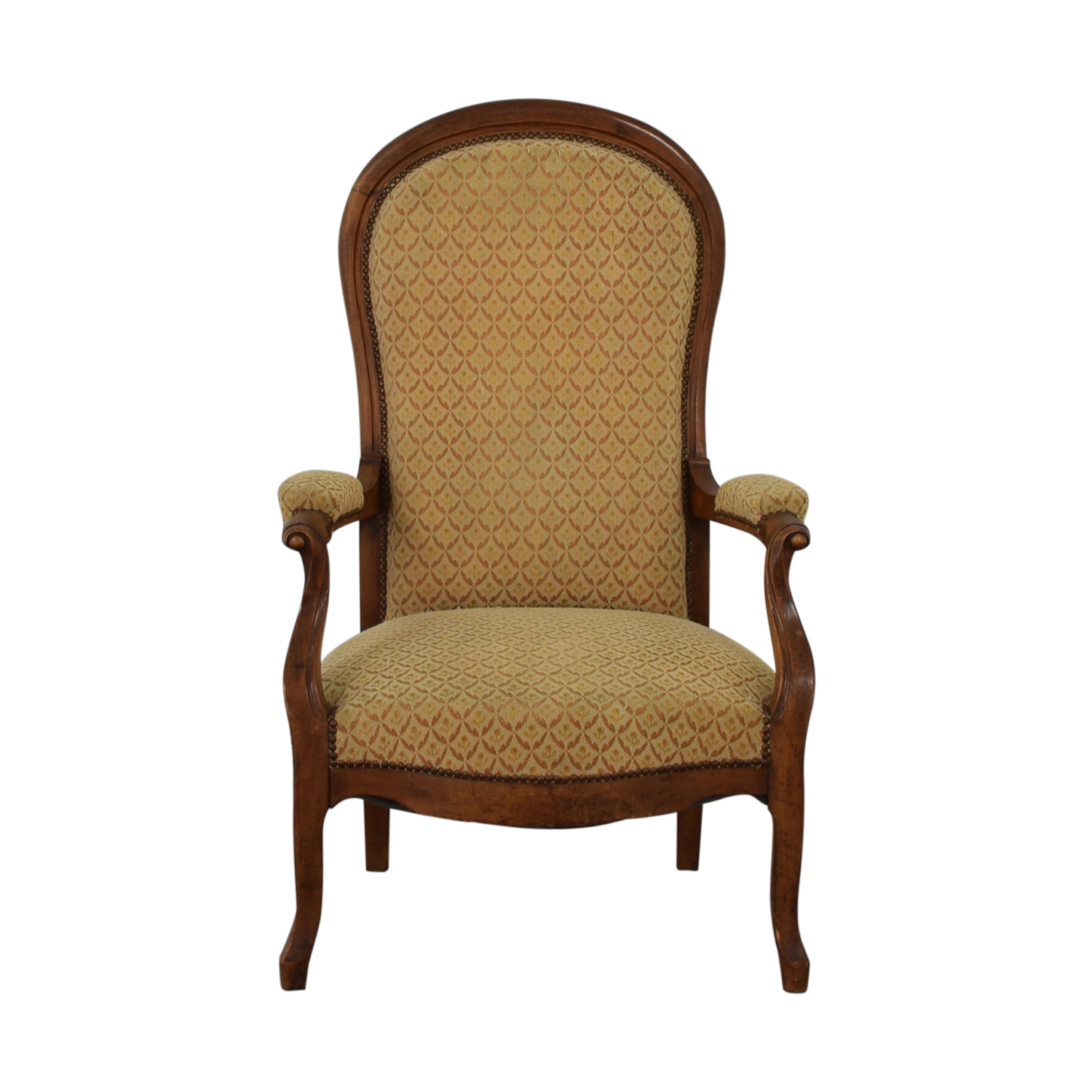 Antique Gold Accent Armchair Dining Chairs