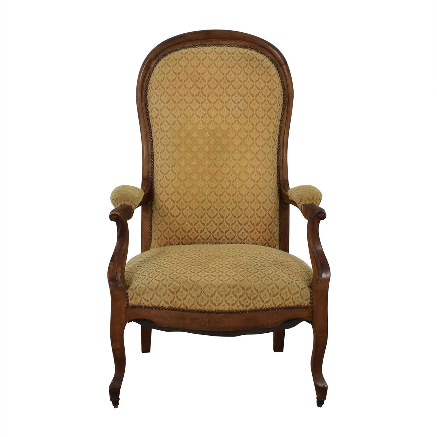 Antique Gold Accent Armchair sale