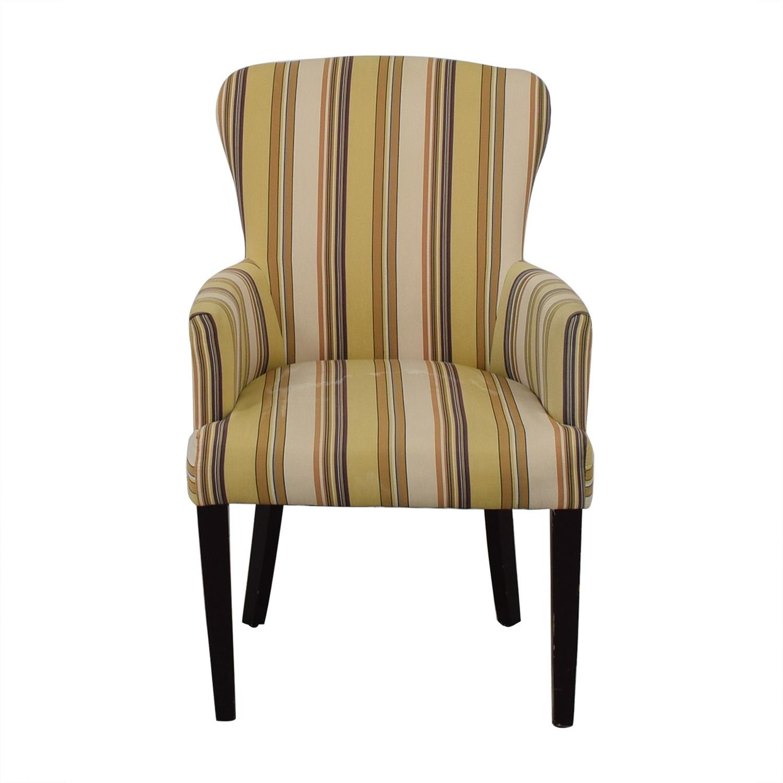 Multi-Colored Striped Armchair discount