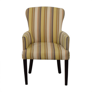 Multi-Colored Striped Armchair used