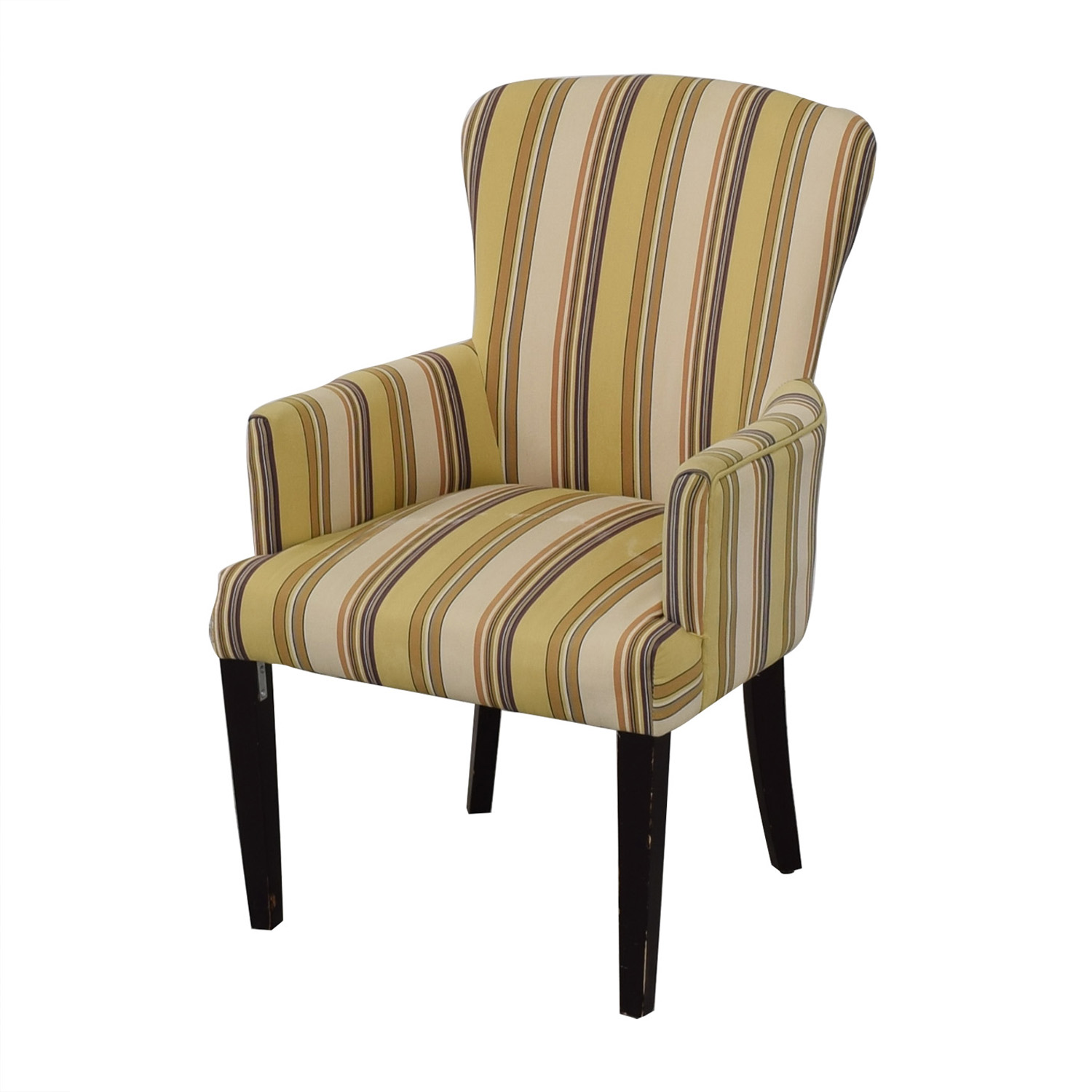 Multi-Colored Striped Armchair / Chairs