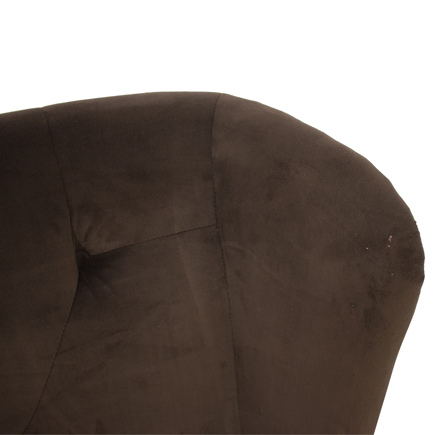 Brown Tufted High Back Loveseat on sale