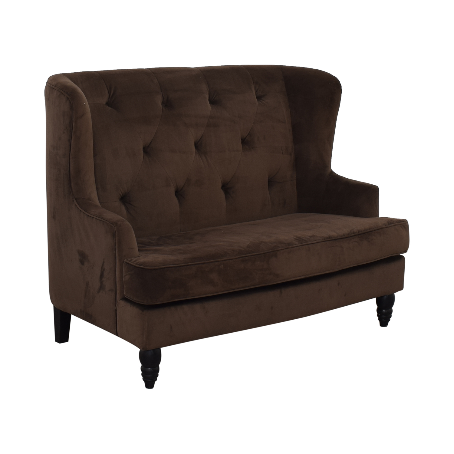 Brown Tufted High Back Loveseat price