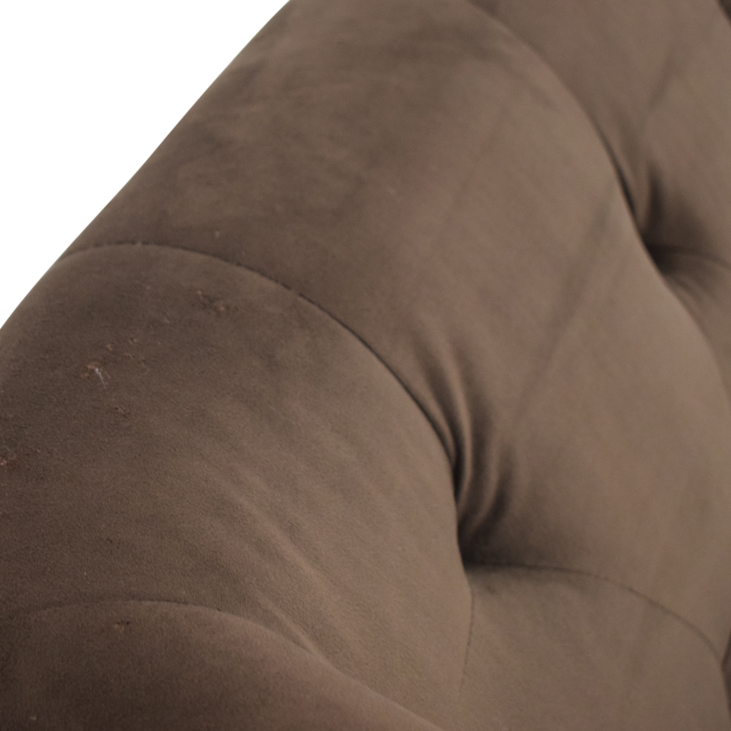Brown Tufted High Back Loveseat Chocolate brown