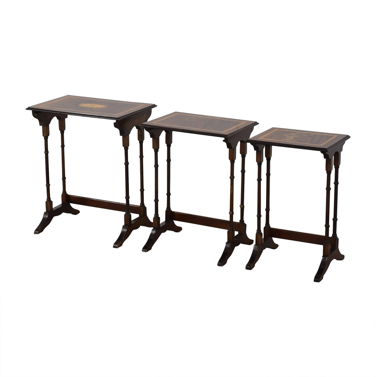 Decorative Nested Accent Tables second hand