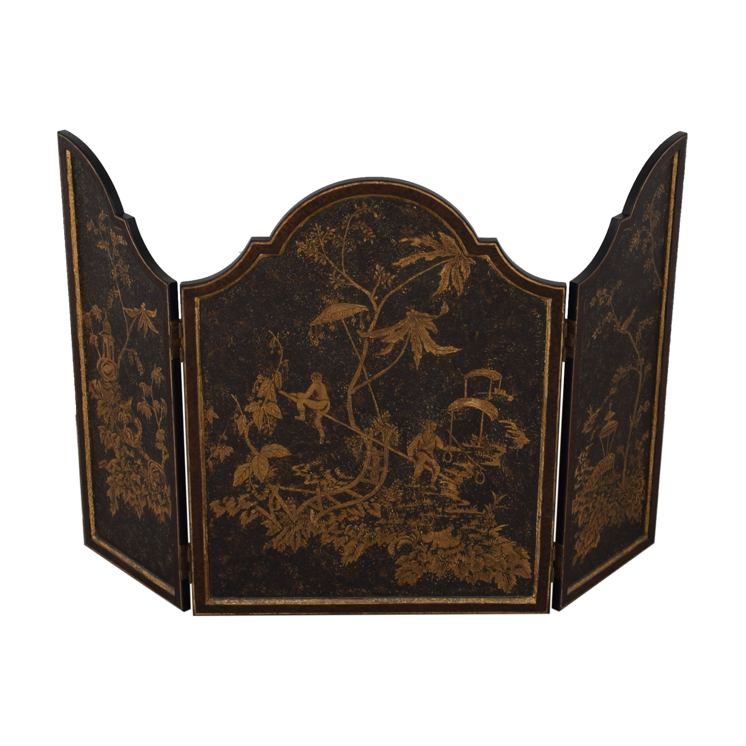 Distressed Gold Three-Panel Screen dimensions