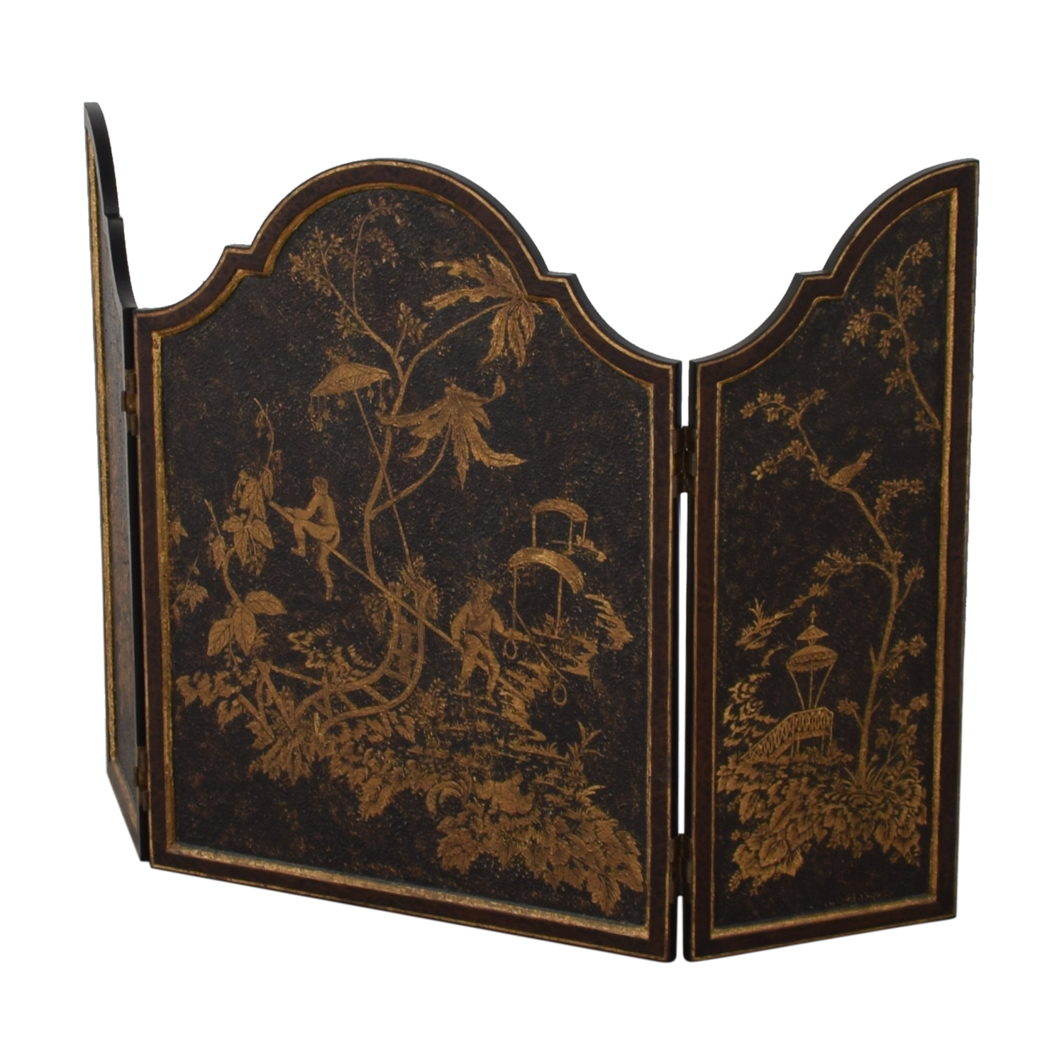 Distressed Gold Three-Panel Screen coupon